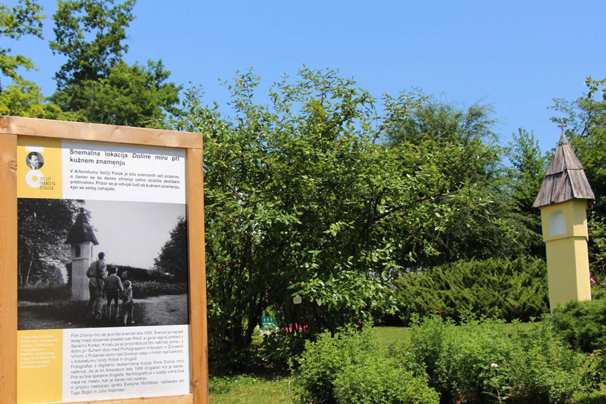 Projekt Dolina miru in Arboretum Volčji Potok ob 100. obletnici rojstva Franceta Štiglica