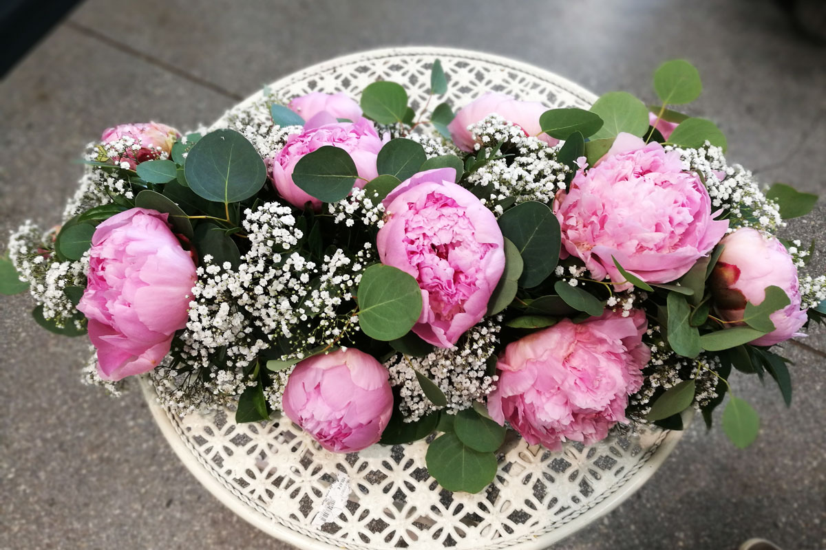 Poročni aranžma iz Cvetličarne Arboretum