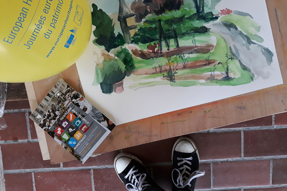Slikarska delavnica v Arboretumu