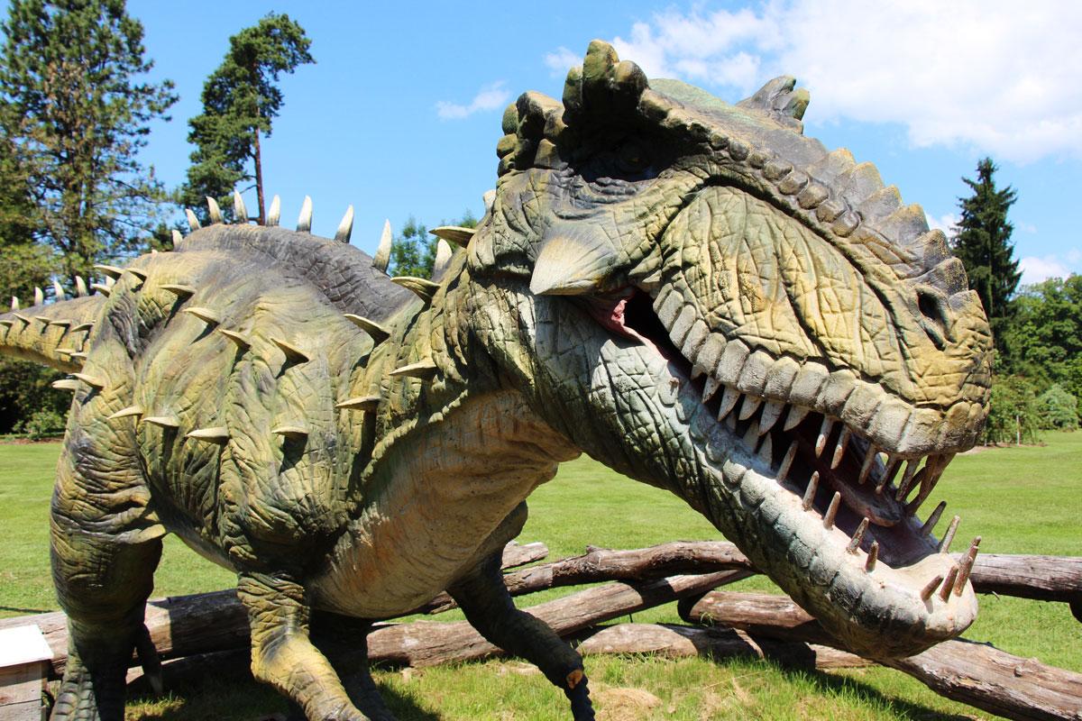 Razstava dinozavrov v Arboretumu Volčji Potok