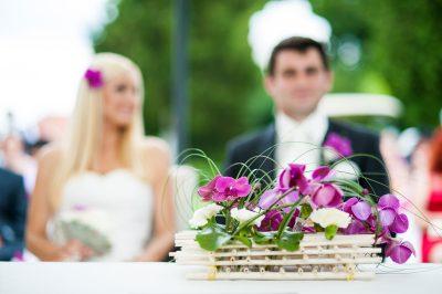 Poročni aranžma za poroko v Arboretumu