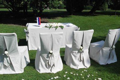 Poročni obred v Arboretumu