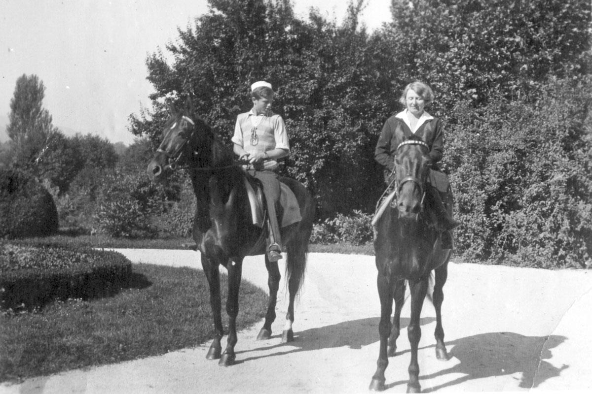 Ferry Souvan s svojo materjo