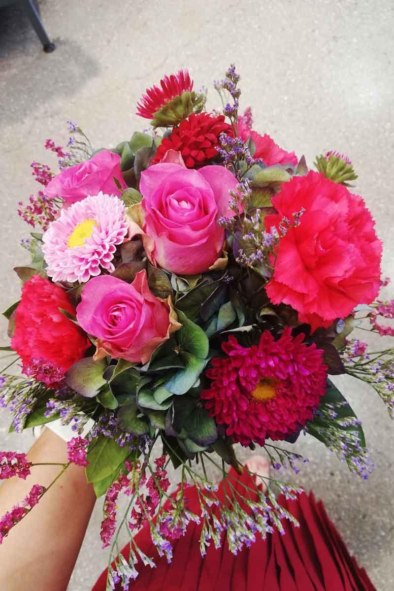 Valentinov šopek v roza barvi