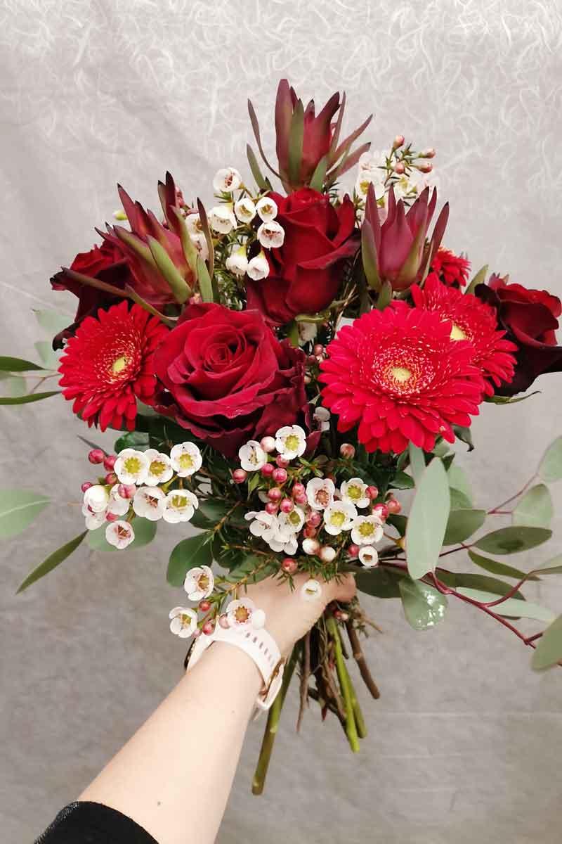 Valentinov šopek v rdeči barvi