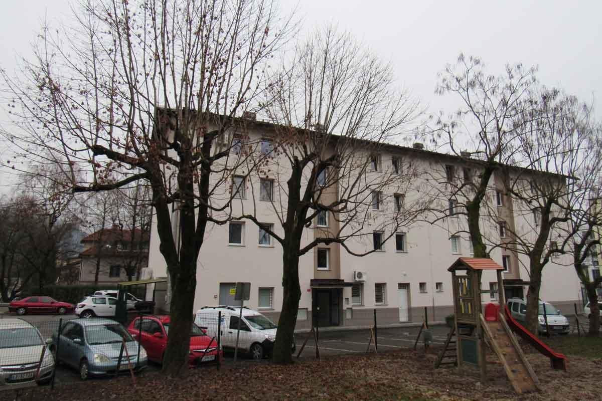 Obglavljena drevesa v Kamniku na otroških igriščih