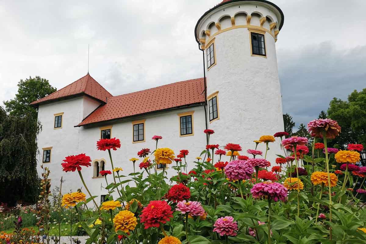 Ogledni vrt na gradu Bogenšperk